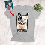 Personalized Graphic Custom Dog Photo Unisex T-Shirt For Dog Lover