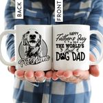 Personalized Happy Father's Day Custom Dog Photo For Dad Mug