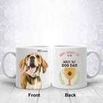 Happy Father's Day To The World's Best Dog Dad Custom Color Dog Photo Mug