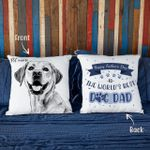 Happy Father's Day Custom Dog Photo Pillow Case