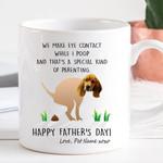 Customized Dog Face Funny Happy Father's Day Mug