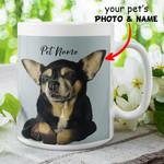 Dog Portrait Father's Days Funny Customized Mug Gift For Dog Dad