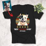 Customized Best Dog Dad Ever Highest Rate T-shirt Father's Day Gift For Dad