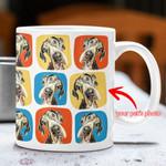Personalized Colorful Painting Dog Photo Randomly Background Mug