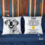 Funny Father's Day Pillow Bitcoin Custom Dog Photo Pillow Case