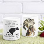 Personalized We Make Eye Contact While I Poop Happy Father's Day Mug Funny Dad Gift For Dog Dad, Dog Owner