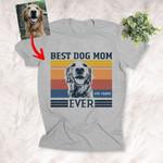 Customized Best Dog Mom Ever Sketch Unisex T-shirt Gift For Dog Mom, Pet Owner