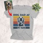 Personalized Dog Dad AF Father's Day Sketch Unisex T-shirt Gift For Dog Dad, Pet Owner