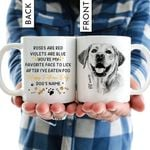 Roses Are Red, Violets Are Blue Hand Drawn Pet Portrait Personalized Mug Gift For Fur Dad, Dog Lover