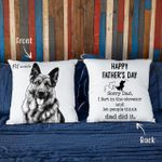 Happy Father's Day. Sorry Dad, I Fart In The Elevator, And Let People Think Dad Did It Hand Drawn Portrait Dog Photo Pillow Case Gift For Fur Dad, Dog Lover