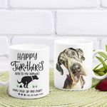Personalized Happy Fur-ther's Day Fathers Day Mug Gift For Fur Dad, Dog Lover
