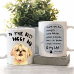 To The Best Doggy Dad Meaningful Message To Dog Daddy Father's Day Mug