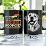 Dog Dad, The Man, The Myth, The Best Poo Picker Hand Drawn Pet Portrait Personalized Mug Gift For Fur Dad, Dog Lover
