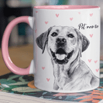 Personalized Hand Drawn Dog Mug For Human Custom Accent Mug For Dog Lovers