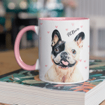 Personalized Color Painting Dog Mug For Human Custom Accent Mug For Dog Lovers