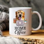 Home Offical Colorful Painting Pet Portrait Personalized Mug Gift For Fur Dad, Dog Lover