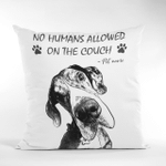 No Humans Allowed On The Couch Personalized Pet Photo Portrait Pillow Case