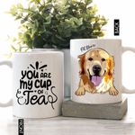 You Are My Cup Of Tea Pet Portrait Colorful Painting Personalized Mug For Dog Lover, Dog Owners, Pet Parents