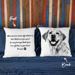 Personalized Pet Sympathy Hand Drawn Portrait Dog Photo Pillow Case Gift For Dog Lover, Dog Owner, Pet Parents