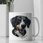 Pet Illustration Portrait Personalized Mug For Pet Lovers, Pet Parents