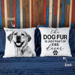 The Dog Fur Dog Decor Personalized Pet Photo Portrait Pillow Case Dog Lover Gift