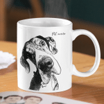 Personalized Pet Photo Portrait Hand Drawing Mug for Dog Lovers
