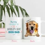 This Mug Belongs To The World's Best  Dog Dad Personalized Dog Face Mug Gift For Fur Parents, Dog Lover
