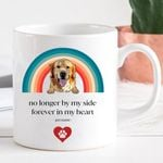 No Longer By My Side Forever In My Heart Customized Pet Face Mug For Pet Lover