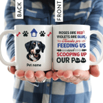 Thanks For Feeding Us Personalized Coffee Mug Gift For Fur Parents, Dog Lovers