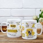 Cup Of Pawsitivitea Personalized Coffee Mug Gift For Fur Parents, Dog Lovers