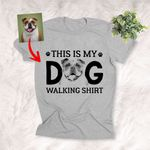 PERSONALIZED SKETCH HAND DRAWING DOG UNISEX SHIRT THIS IS MY DOG WALIKNG SHIRT FOR PET WALKER, PET LOVERS