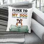 It's Too Peopley Outside Funny Introvert Customized Pillow Case Gift For Dog Parents
