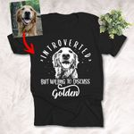 Introvert But Willing To Discuss Dogs Dog Sketch T-Shirt Introvert Dog Lover  Shirt