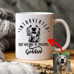 Introvert But Willing To Discuss Dogs Custom Dog Sketch Coffee Mug Gift For Fur Mom, Dog Lovers, Introvert People