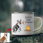 Let's Get Toasted Custom Dog Enamel Camping Mug Gift For Fur Mom, Dog Lovers
