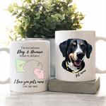 Long Distance Relationship Dog & Human Custom Dog Portrait Coffee Mug Gift For Fur Mom, Dog Lovers