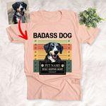 Badass Dog, Stole Hooman Heart Vintage Customized Dog Portrait T-Shirt Gift For Dog Lovers, Dog Parents