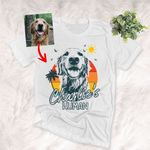 Personalized Pet's Human Summer Vibes Unisex T-shirt, Gift for Dog Mom, Pet lovers