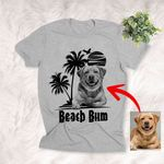 Beach Bum Beach Vacation Summer Vibes Dog Unisex T-shirt, Gift for Dog Owners