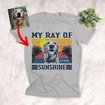 My Ray Of Sunshine Custom Dog Sketch T-Shirt Dog Summer Lover Shirt