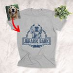 Jurassic Bark Custom Dog Sketch Graphic T-Shirt Dog Owner Pet Lover Shirt