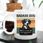 Badass Dog Custom Dog Portrait Coffee Mug Gift For Fur Mom, Dog Lovers