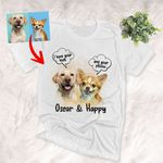 Custom 2 Dogs Watercolor Unisex T-shirt, Gift for Dog Lovers, Pet Lovers