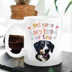 You Are My Cup Of Tea Custom Dog Illustration Coffee Mug Gift For Fur Mom, Dog Lovers