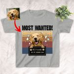 Wanted, My Dog Ate My Lesson Plan Dog Custom Kid's T-shirt Gift For Children Back To School