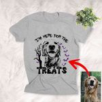 I'm Here For The Treats Customized Dog Halloween T-Shirt