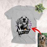 Happy Halloween Customized Dog Halloween Pumpkin T-Shirt Gift For Dog Lovers, Pet Mama