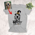 Happy Halloween Customized Dog Witch Hat T-Shirt Gift For Dog Lovers, Pet Owners