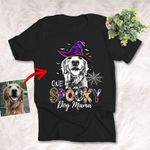 One Spooky Dog Mama Halloween Customized Sketch T-Shirt Gift For Spooky Dog Lover