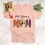Halloween Dog Mom Customized Dog Colorful painting T-Shirt Gift For Halloween, Spooky Dog Lover